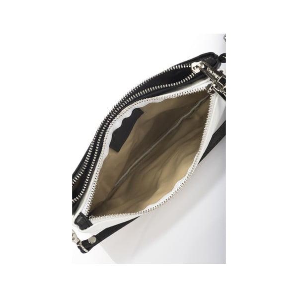 Skórzana torebka Krole Kody z 2 kieszonkami, biała