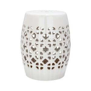 Jasnokremowy solik ceramiczny odpowiedni na zewnątrz Safavieh Ravello