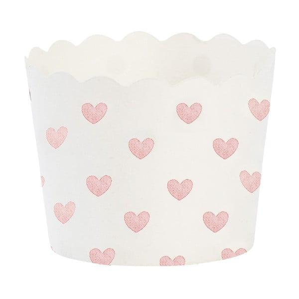 Papierowe foremki na muffiny Rose Heart, 24 szt.