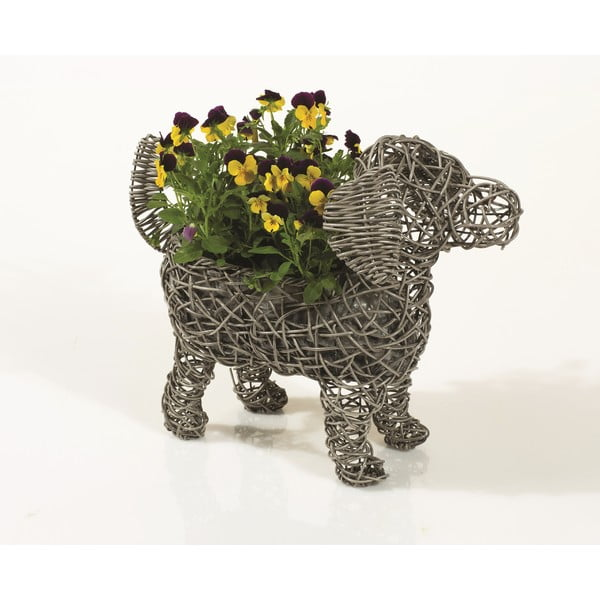 Dekoracyjna rattanowa doniczka Dog Planter