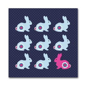 Plakat Grupa królików