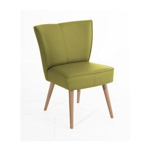 Zielony fotel Max Winzer Beni Imitation