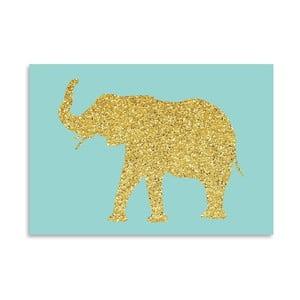 Plakat Americanflat Glitter Elephant, 30x42 cm