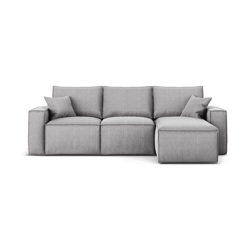Szara narożna sofa prawostronna Cosmopolitan Design Miami,