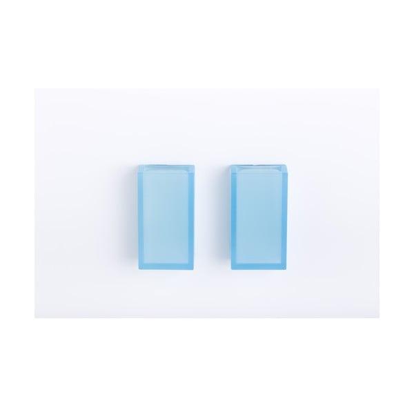 Samoprzylepny ścienny kubek na szczotki do zębów Listo Light Blue, 2 szt.