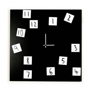 Zegar ścienny dESIGNoBJECT.it Changing Clock Black,50x50cm