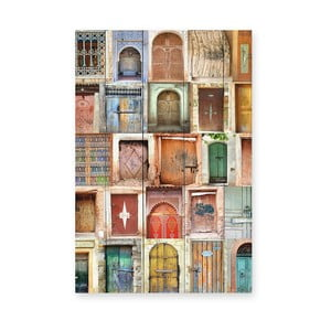 Drewniana tablica Really Nice Things Doors, 40x60 cm