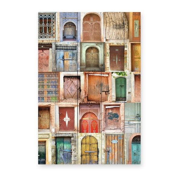 Tabliczka drewniana Really Nice Things Doors, 40x60cm