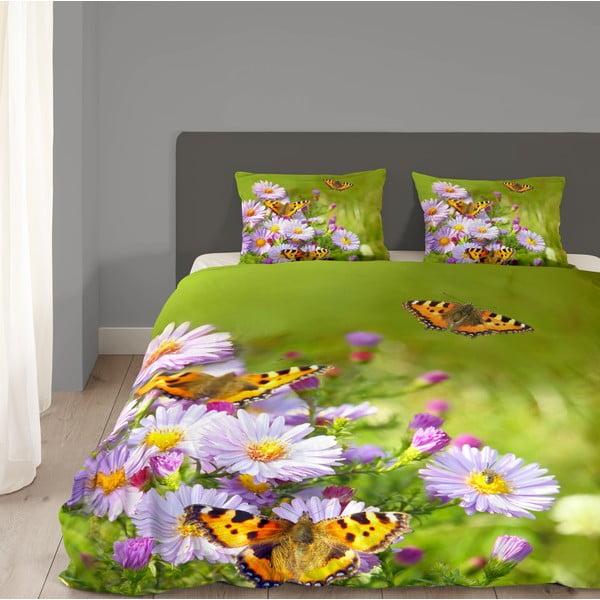 Pościel Butterfly, 240x200 cm, zielona
