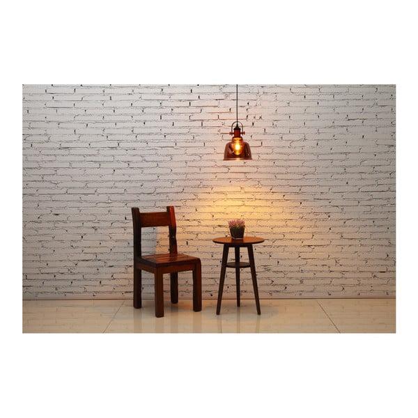 Miedziana wisząca lampa szklana Garageeight Etel