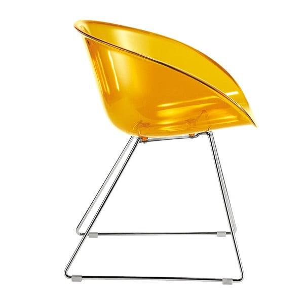 Żółte krzesło Gliss Pedrali 921