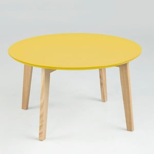 Stolik Molina ⌀ 80 cm, żółty