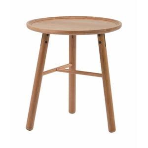 Matowy lakierowany stolik dębowy Folke Saga, ⌀ 50cm