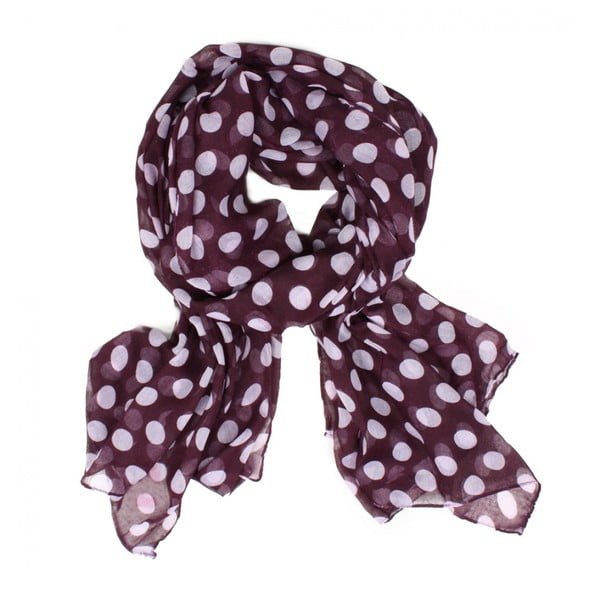 Szal Midi Polka Dot, Grape