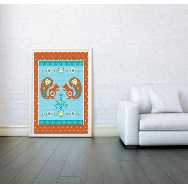 Plakat Ruda wiewiórka, duży