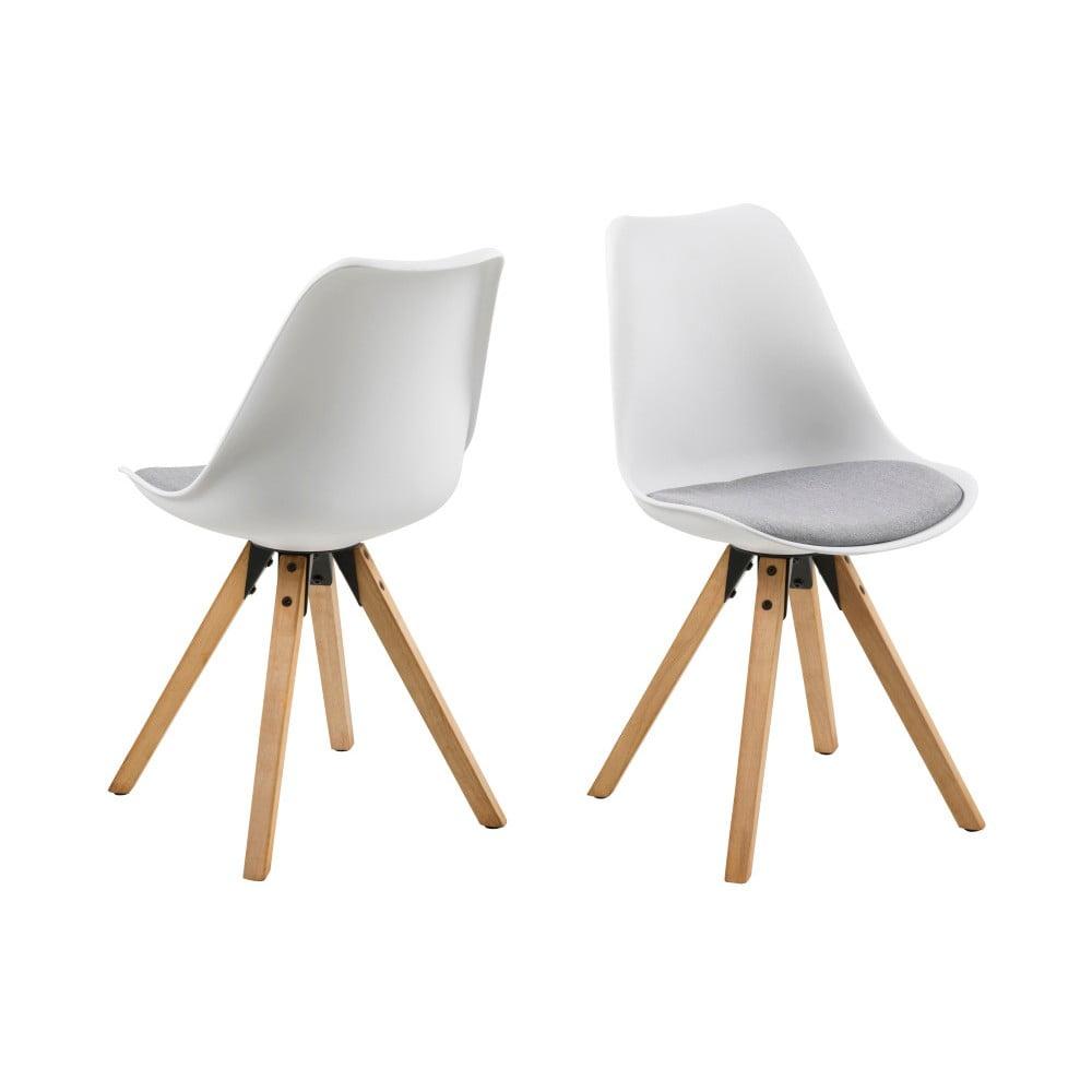 Zestaw 2 szaro-białych krzeseł Actona Damia