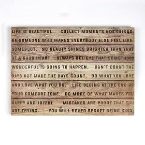 Obraz z drewna Graham & Brown Life,70x50cm