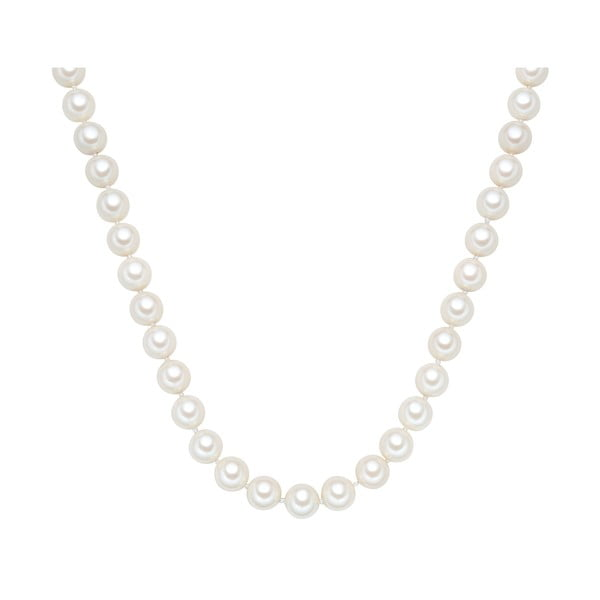 Naszyjnik z białych pereł ⌀ 12 mm Perldesse Muschel, długość 45 cm