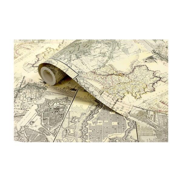 Rolka tapety Stara mapa, 53x1005 cm