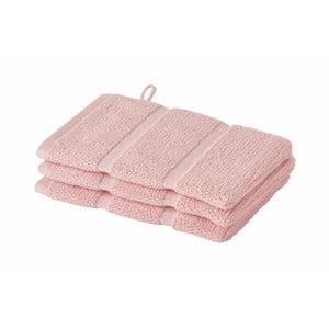 Różowy ręcznik do twarzy Aquanova Adagio 16x22 cm