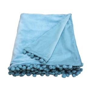 Niebieska narzuta Ragged Rose Belinda Velvet