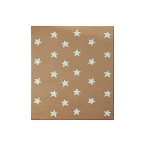 Dywan City & Mix - beżowy w gwiazdy, 140x200 cm