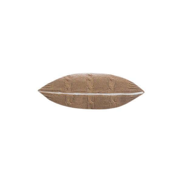 Pleciona poszewka na poduszkę Fancy Beige, 43x43 cm