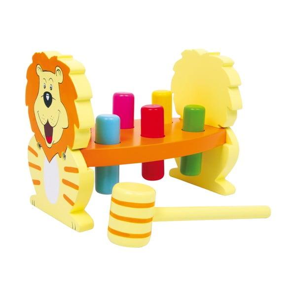 Drewniana przebijanka z młotkiem Legler Lion