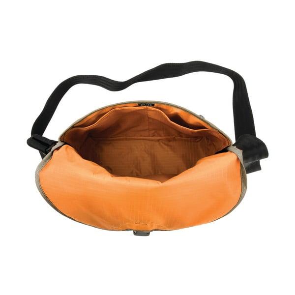 Torba Dinky Di Messenger S, khaki/pomarańczowa