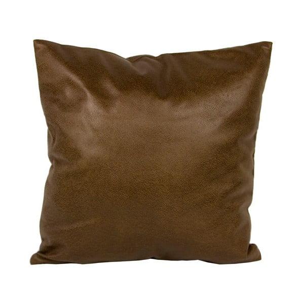 Poduszka z imitacji skóry, 40x40 cm