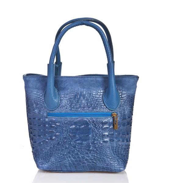 Niebieska   torebka skórzana Massimo Castelli Laurita