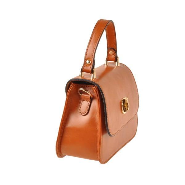 Skórzana torebka Flaux, koniakowa
