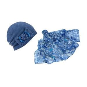 Niebieska czapka i chusta Lavaii Francesca