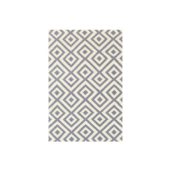 Dywan wełniany Luisa Grey, 240x155 cm