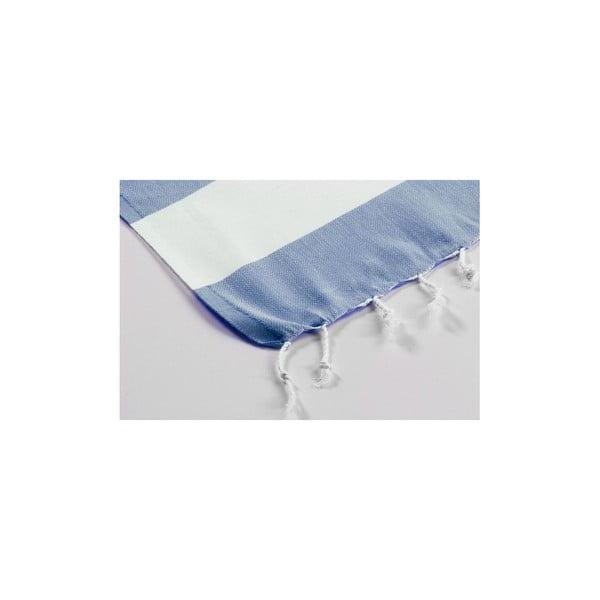 Ręcznik hamam Myra Slateblue White, 100x180 cm