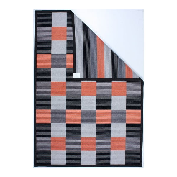 Dywan Square Black/Orange, 160x230 cm