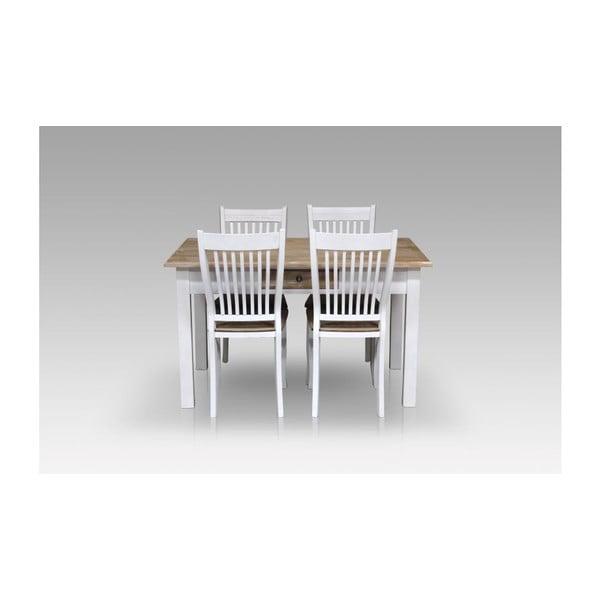 Stół jadalniany Charlston White, 130x80x77 cm