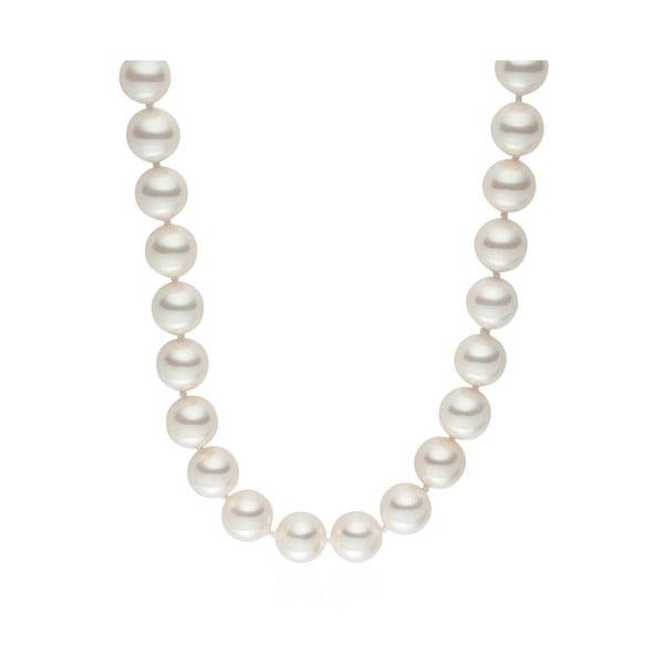 Naszyjnik z pereł Pearl Elegance White, 80 cm