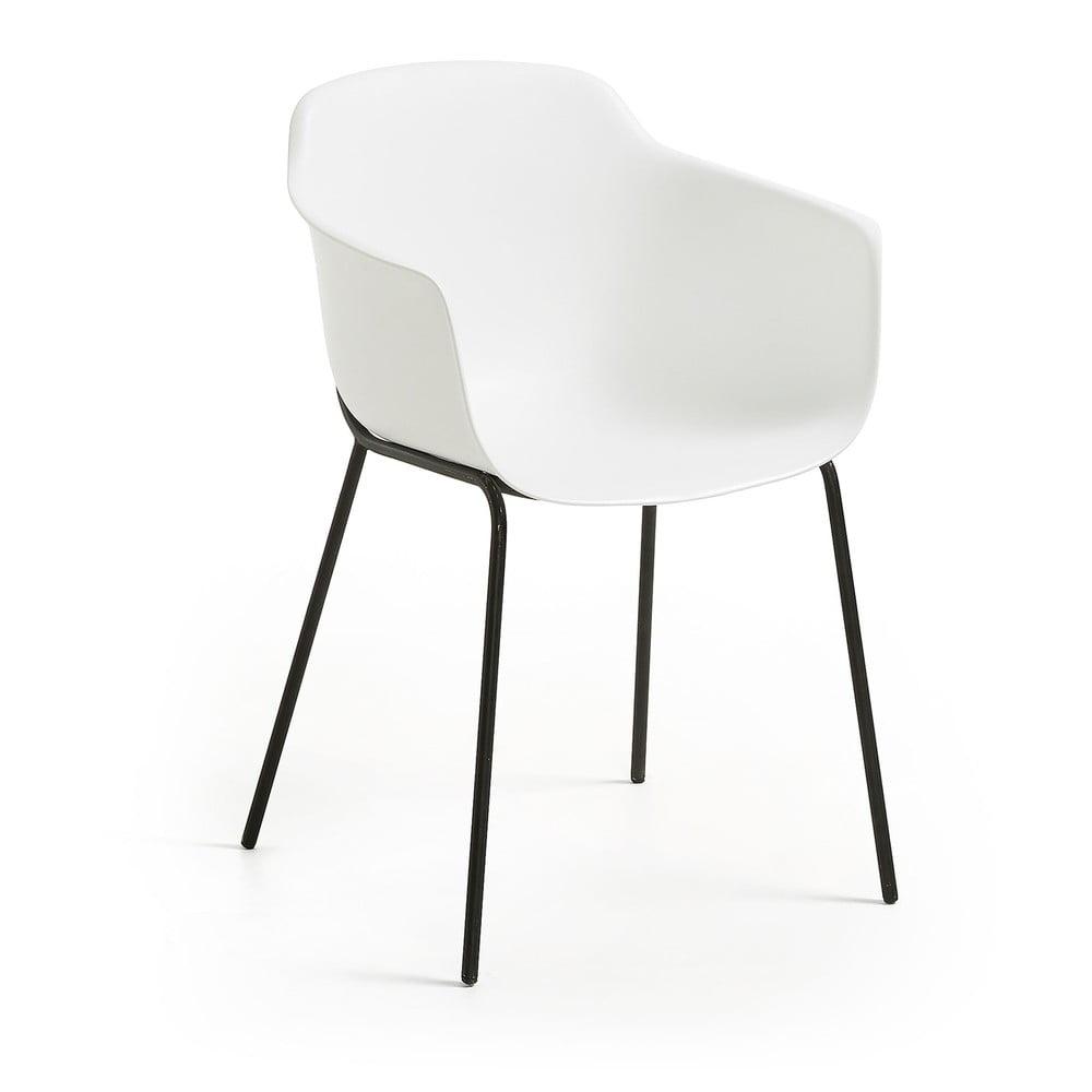 Białe krzesło do jadalni La Forma Khasumi