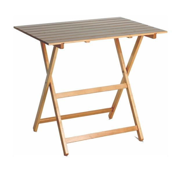 Stolik składany z drewna bukowego Valdomo New Scal King, 60x80 cm