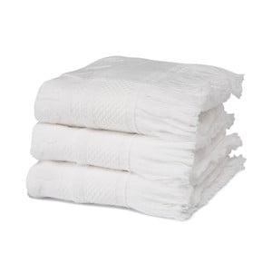 Komplet   3 ręczników Grace White, 30x50 cm