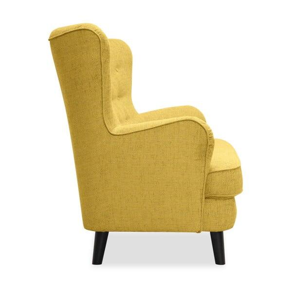 Żółta sofa 3-osobowa Vivonita Fifties