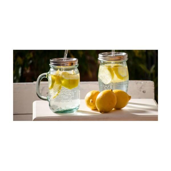 Szklanka z zakrętką i słomką Authentic, 550 ml