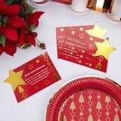 Zestaw 10 świątecznych kart do gry towarzyskiej Neviti Dazzling Christmas