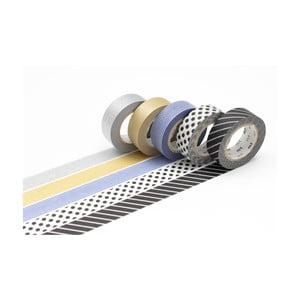 Zestaw 5 taśm dekoracyjnych washi Gold/Silver