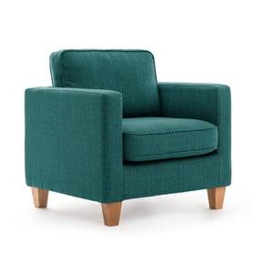 Turkusowy fotel Vivonita Sorio
