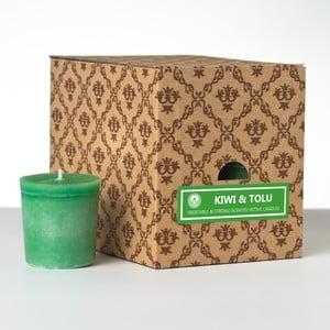Zestaw 12 świeczek zapachowych Kiwi and Tolu, 15 godzin palenia