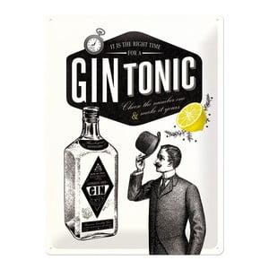 Tabliczka blaszana Gin Tonic, 30x40 cm
