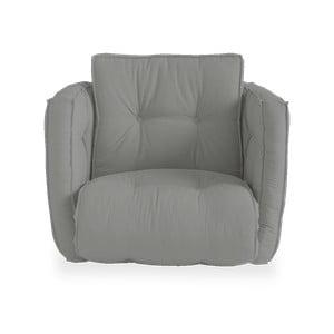 Rozkładany fotel z szarym obiciem Karup Design Dice Grey
