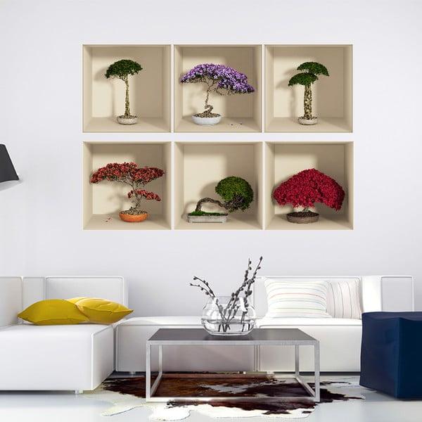 Zestaw 6 naklejek 3D Ambiance Home